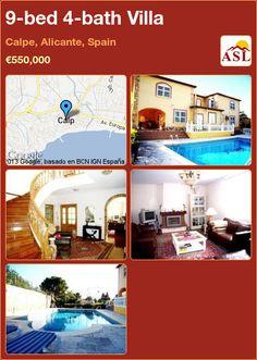 9-bed 4-bath Villa in Calpe, Alicante, Spain ►€550,000 #PropertyForSaleInSpain