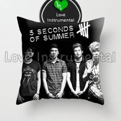 """5 Second Of Summer Personil - Pillow Cover 18 x 18"""" inches - One Side by LOVEINSTRUMENTAL on Etsy"""