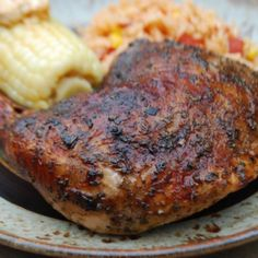 Roadside Chicken recipe: If you like the chicken from the roadside chicken stands then you'll like this. I've been making this for about 15 years now and it's pretty darn good. - Bryan S from the Virtual Weber Bullet forum. Grilling Recipes, Beef Recipes, Chicken Recipes, Cooking Recipes, Recipies, Roadside Chicken Recipe, Bbq Chicken, Grilled Chicken, Marinated Chicken Thighs