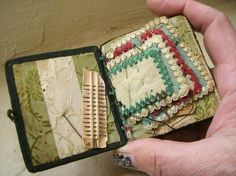 Antique Victorian Sewing Kit with Petit Point Designs by sofralma, $75.00