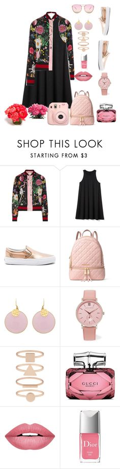 """""""Peonies"""" by osirisarambuloh on Polyvore featuring moda, Gucci, Gap, Vans, MICHAEL Michael Kors, Larsson & Jennings, Accessorize, Forever 21, Christian Dior y Fujifilm"""