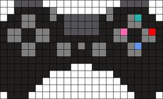 PS4 Controller Perler Bead Pattern Like, Re-Pin. Thank's!!! Repined by http://www.casualgameportal.com/category/playstation/