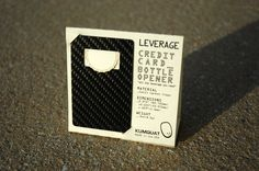 LEVERAGE credit card bottle opener (carbon fiber) by KUMQUAT