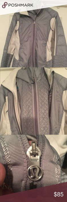 Lululemon jacket size 6 with zip out insert Lululemon size 6 jacket with a zip out insert. Very cool detailing on this jacket! lululemon athletica Tops Sweatshirts & Hoodies