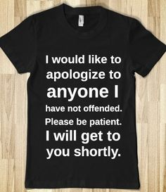Offended  TShirt by Anydaytees on Etsy, $29.99