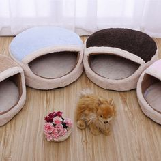 1 x Pet bed. Our goal is. Kind: Cat/dog's bed. Good ventilating capacity. Material: Coral Fleece & Cotton. Color:Show as the picture. This product has a one-year warranty. We will be responsible for. | eBay!