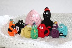 Free pattern for Barbapappa family (in swedish) from mest virkat