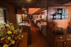 Enjoy some of the brilliant picturesque sights from the windows of the royal train offering scintillating scenery. The luxurious train comprises of plush interiors and magnificent amenities reminisce the bygone era.