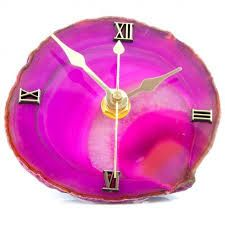 super cute diy .....print agate slices pictures, stick on cardboard and make it into a clock for your desk or wall :)  - Alyssa