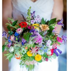 Homemade and Colourful Wild Meadow Summer Wedding I like the idea of soft, neutral and muted colors everywhere w a bright, wildflower bouquet.I like the idea of soft, neutral and muted colors everywhere w a bright, wildflower bouquet. Rustic Boho Wedding, Floral Wedding, Wedding Colors, Wedding Flowers, Trendy Wedding, Wedding Ideas, Wildflowers Wedding, Wedding Blog, Wedding Planning