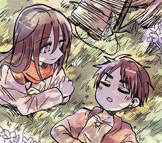 Attack On Titan Comic, Attack On Titan Fanart, Eren And Mikasa, Eremika, Titans Anime, Anime Demon, Kawaii, Haikyuu, Besties