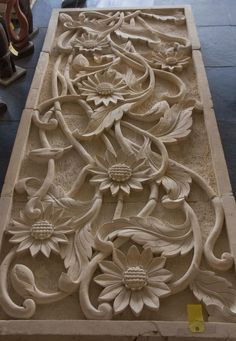 sunflower wood carving panels - Google Search
