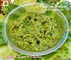 Pesto di verdure alla crudaiola   Profumi Sapori & Fantasia
