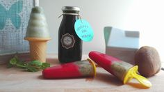 minth syruo and homemade popsicles