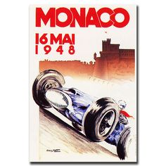 Monaco 1948 by George Ham-Gallery Wrapped 18x24 Canvas Art