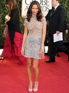 Golden Globes Best-Dressed 2013- Thandie Newton - Thandie threw convention out the window and went with something short that showed off her a-ma-zing legs.
