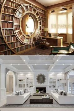 From rustic charmers to brick beauties, these amazing home libraries are sure to inspire book lovers and run circles around all the rest.