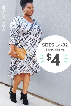 Find trendy plus size clothing, everything from plus size dresses to cute plus size tops to plus size workout clothes. New and used plus size clothing on sale for every occasion. Curvy Girl Fashion, Plus Size Fashion, Mom Fashion, Fashion 2018, Plus Size Tops, Plus Size Women, Plus Size Dresses, Plus Size Outfits, Beautiful Outfits