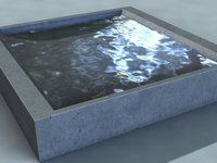 3d animated water