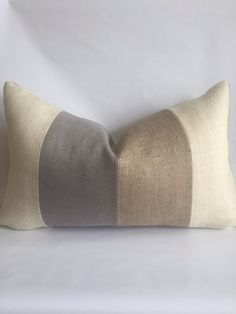 Cream Living Rooms, Coastal Living Rooms, Living Room Grey, Living Room Decor, Handmade Pillow Covers, Handmade Pillows, Custom Pillows, Cream And Grey Bedroom, Lumbar Pillow