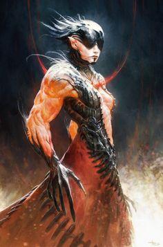 Demon lady by byakko-kun.deviantart.com on @DeviantArt