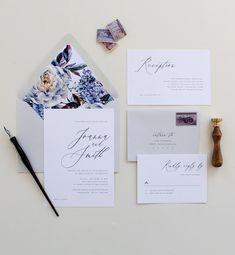 Purple Calligraphy Wedding Invitation Modern Calligraphy #weddinginvitation