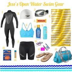 Jess's open water swim triathlon training gear   TwoTri.com
