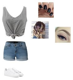 """Untitled #205"" by cheyennehester ❤ liked on Polyvore featuring LE3NO and adidas"