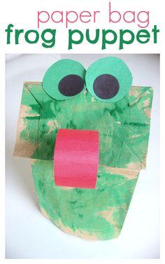 Paper Bag Frog Craft is part of Paper Bag Frog Puppet Dltk Kids Com - paper bag puppet frog craft for kids! Frog Crafts Preschool, Pond Crafts, Frog Activities, Art Activities For Toddlers, Preschool Classroom, Frog Games, Childcare Activities, Kindness Activities, Preschool Curriculum