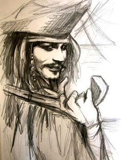 jack sparrow-sketch by kittrose.deviantart.com on @DeviantArt