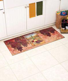 Wine Cushioned Kitchen Runner Floor Mat NonSlip Foam Rubber Backing Home Decor