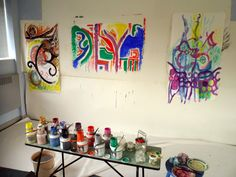 Arno Stern's method at 123 Big Art Day, 11 Aug 2012
