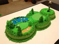 Golf Course Cake Ideas - Bing images                                                                                                                                                      Más