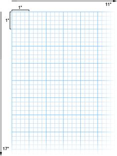Alvin Cross Section Paper with 4 x 4 Grid, 11in x 17in