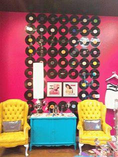 I like the record wall