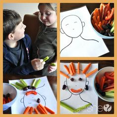 """Encourage kids to try vegetables with this fun """"Veggie People"""" activity! My kids now ask me for vegetables because of this! #vegetables #kids #healthyeating from howdoesshe.com"""