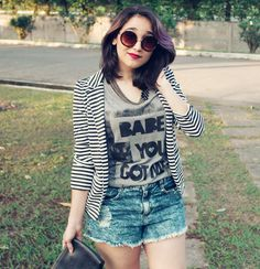 Love this striped blazer! @heyjuume