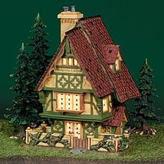 """Department 56: Products - """"Hedgerow Garden Cottage"""" - View Lighted Buildings"""