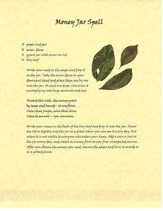 money spell Book of Shadows Spell Pages ** Money Jar Spell ** Wicca Witchcraft BOS Jar Spells, Luck Spells, Moon Spells, Hoodoo Spells, Magick Spells, Wicca Witchcraft, Wiccan Spells Money, Gypsy Spells, Money Spells That Work