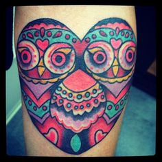 I already have an owl tattoo but MAN I love this one!