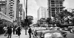 Década de 70 - Avenida Paulista altura do edifício da Gazeta.