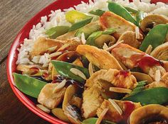 Chicken and Snow Pea Stir Fry Main Dishes, Side Dishes, Snow Peas, Supper Ideas, Meals For The Week, Weeknight Meals, Stir Fry, Entrees, Fries