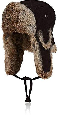 Mens Fur Trapper Hat Crown Cap SCT4UH66