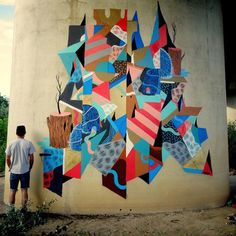 Colourful piece by #Goddog (globalstreetart.com/goddog) #globalstreetart