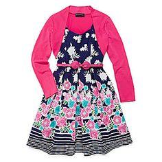 jcp   Disorderly Kids® 2-pc. Cardigan Poplin Dress - Girls 7-16
