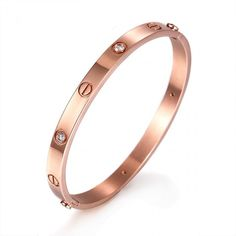 Staccato Bracelet (Bronze)-Chunky rose gold Staccato Bracelet made by high quality stainless steel with IP PVD plating. * Color: Rose Gold  * Imported