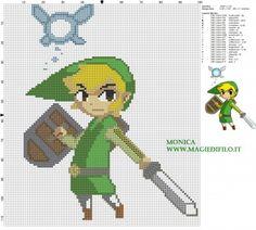 Schema punto croce Link e Sciela (The legend of Zelda) 100x114 20 colori.jpg