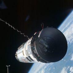 Puerto de atraque de un Agena visto desde la Gemini 12