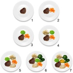 Apparently kids prefer to have 6 different colors and 7 items on their plates, according to a study at Cornell. I'll have to try this one.