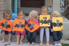 Handprint Bats:: Halloween Crafts for Kids